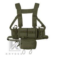 Krydex Mk3 táctico Clasis Chest Rig Para la caza Spíritus caza de Airsoft mini guardabosques chaleco del portador de W / Revista bolsa de color Rg