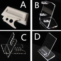 E cig Acrylic Holder Stands For Display Box Mod Cases Vape Kits Shelf Racks Ego One Aio IPV 5 ISTICK 100W E-cigarette Accessories