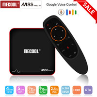 Sistema operativo Android TV Google Voice Control TV Box Android 7.1 Smart Box Amlogic S905W CPU Quad Core 4K 3D 2GB RAM 16GB Mecool M8S Pro W