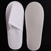 bab3646ed25ab Wholesale disposable slippers for sale - Disposable Hotel Towelling Slippers  With EVA Sole Closed Toe Travel