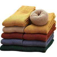 kvinnor män varma fleece strumpor vinter terry varm golv strumpor tjock ull stickas fluffiga sock flickor lady fuzzy socks festival julklapp