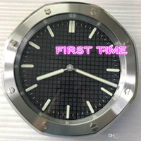홈 인테리어 벽 시계 현대적인 디자인 고품질의 새로운 스테인레스 스틸 빛나는 얼굴 캘린더 손목 시계 FTP007