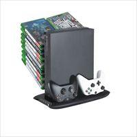 Denetleyici Şarj Cihazı Soğutma Standı Xbox One X Ince Oyunlar Depolama Şarj Docking Station Konsolu