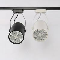 35W Coque blanche Rail d'éclairage LED super lumineux E27 PAR30 piste Spot LED plafond lampe rail pour le hall d'exposition du magasin de vêtements