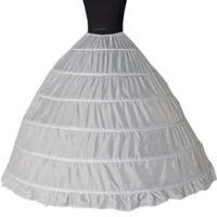 2019 Оптовая 6 обручи юбки суета для бальное платье Свадебные платья нижняя юбка свадебные аксессуары свадебные Crinolines