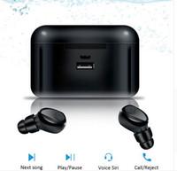 모든 전화를위한 2200mAh 전원 은행 미니 TWS X8 진정한 무선 이어폰 블루투스 이어폰 미니 TWS는 방수 Headfrees