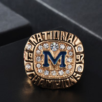 NCAA 1997 Michigan state university gold plating Rose bowl M...