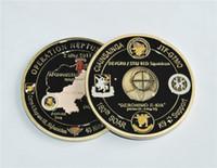Freies Verschiffen 50pcs / lot, US-Militär fordert Münze - Operation NEPTUNE SPEAR 160. SOAR SEAL Team 6 Brnz Gedenkherausforderung-Münze