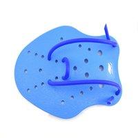 السباحة اليد تراء التجديف بطة البحر البط الويب مع حبل حزام ثقب صغير تصميم الكبار الطفل الأزرق مكافحة ارتداء 9 5jz3C1
