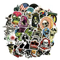 50PCS Stickers Pack Mix Lot Skull Design Stickers Amazing Fa...