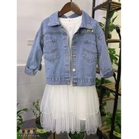 Girls Jean Jacket Spring and Autumn New Baby Coat Korean Fas...