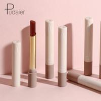 여성 미용 화장품 maquillaje에 대한 Pudaier 16 색 매트 립스틱 메이크업 오래 지속 방수 립글로스 선물