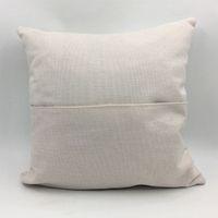 Sublimação fronha em branco bolso Pillow Almofada Transferência de Calor em branco Impressão Pillow Covers Linho Pillowcase A02 Atacado