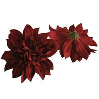 11cm Dahlia Pompon Head Faux Fleurs Silk Fleur artificielle pour bricolage Mariage Mariage Murale Flores Décoration de jardin Décoration à la maison Accessoire