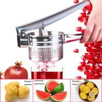 Alta Calidad Manual de naranja limón Exprimidor de prensa pequeña granada Exprimidor Presser multifuncional patata Trituradora Herramientas de Cocina