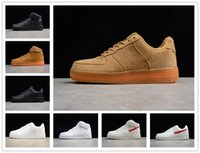 바겐 세일 판매 코르크 남성을위한 고품질 1 캐주얼 신발 낮은 컷 모든 흰색 검은 색 캐주얼 스 니 커 즈 크기 5.5-12
