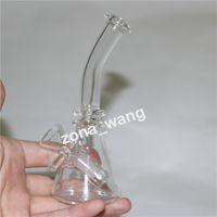 Стеклянный бонг нефтяной установкой толщиной толщиной гвоздь стеклянные бонги женские суставов 10 мм барбогреб Уамблерная установка мини-стеклянная вода