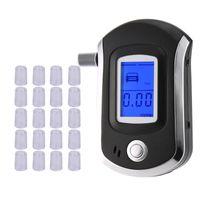 AT6000 Alkol Test Cihazı ile 21 Ağızlıklar Profesyonel Dijital Nefes Breathalzer ile LCD Dispaly Bafometro Alkolimetro DF