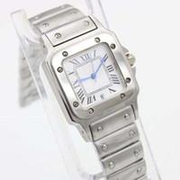 럭셔리 화이트 로마 숫자 제한 다이얼 Populor 석영 디자이너 레이디 시계 새로운 품질의 여자 패션 스테인레스 스틸 시계 시계
