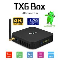 Cheapest TX6 Allwinner H6 Quad Core 4GB 32G Android 9. 0 tv b...
