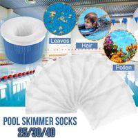 conjunto de la piscina de basura piscina Skimmer Calcetines reemplazo 2020 Natación fina malla de filtro PCS 25/30/40