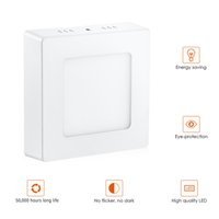6W Surface Mounted-Panel Licht White Square 220v Schlafzimmer Wohnzimmer Innenbeleuchtung LED-Panel Lampe Warm