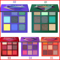 CMAADU 9 Farben Augen Make-up Glitter Lidschatten Schimmer Bling Diamant Metallic Matt schimmernde Lidschatten-Palette Bea201