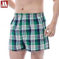 Erkek Şort MyDBSH Marka Gevşek Pamuk Ekose Erkekler Kurulu Sandıklar Konfor Homewear Moda Yumuşak Eğlence Yaz Kısa Yüksek Kalite