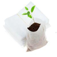 Plant Grow Bags 8 * 10 cm Pentole Semenzale Biodegradabili Borse asilo nido non tessute Biodegradabili Casa Fornitura del Giardino domestico 100pcs / Set OOA7897