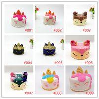 matschig Nettes rosa Einhorn Spielzeug 11CM bunten Karikatur-Einhorn-Kuchen-Schwanz-Kuchen für Kinder Spaß-Geschenk Squishy Rising Langsam Kawaii Squishies K25