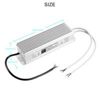 Freeshipping LED Transformador 150W 60W controlador de 220V a 12V IP67 a prueba de agua LED de alimentación 5A de luz LED para la luz al aire libre