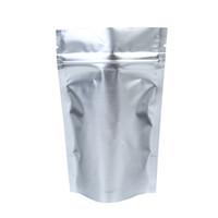 أسود / الذهب / الأخضر / الوردي / الفضة تخزين ziplock gusset حقيبة الحرارة ختم المعدنية قفل الوقوف أكياس 100 قطع
