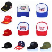 Donald Trump Cap 12 Styles Make America Great Again Casquette de baseball Trump 2020 Chapeau En Plein Air Chapeaux de Fête D'été OOA6848