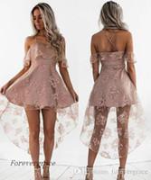 2019 милый бледно-розовый короткий домохозяйственный платья винтажные высокие низкие кружевные юниоры сладостные 15 градация коктеиль для вечеринка платье плюс размер на заказ