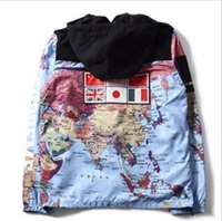 سترات الفاخرة ملابس رجالي الرجال النساء خريطة العالم عاكس مصمم سترات مصمم رجالي الشتاء سترة معطف الحجم M-XXXL