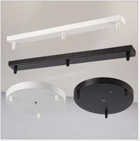 Потолочные светильники люстры / подвесные лампы базовые пластины Освещение аксессуары Черный / белый Круглый / прямоугольный потолочный базовый базовый навес пластины лампы