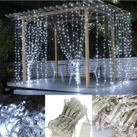 10M x 3M 1000 led LED 커튼 라이트 장식 크리스마스 요정 축제 웨딩 스테이지 라이트 램프 전구 10 * 3M String Strip Rope Lights String