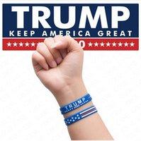 Donald Trump 2020 silicón de la pulsera mantener a Estados Unidos Grandes Muñequera imprimir cartas Deporte brazalete Amercia Elección General pulseras personalizado D61810