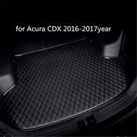 Individuelle Anti-Rutsch-Leder Auto Kofferraummatte Bodenmatte geeignet für Acura CDX 2016-2017year Auto Anti-Rutsch-Matte