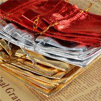 Or Et Argent Sac De Tissu Rouge Or Tissu Bundle Poche Dressing Bijoux Cadeau Cadeau Sac De Cordon Acceptance Emballage Sacs 0 9la10 k1