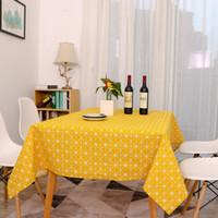 غطاء الطاولة المستطيلة لغطاء المائدة 140x180 سم من الكتان القطني