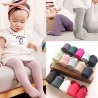 Solid Color-Baby-Kind-Mädchen-Baumwoll warme Strumpfhosen Princess Winter Herbst Mode Strümpfe Top-Qualität Strumpfhosen 0-6Y