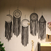 Dream Catcher noir Tassel mur décoration à la main Wind Chimes Pendentif Dreamcatcher Accueil Wall Art Tentures Décorations 7 couleurs