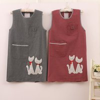 Fashionable cute Japanese cotton vest apron sleeveless home ...