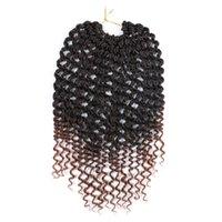 Lans Crochet Spring Twist Cheveux Pre Twist Twist 14 pouces Bombe Twist Tennhetic Synthétique Pre-Loopée Passion Twist Crochet Cheveux Tresses 75g / PC
