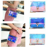 3styles Laser see-through singola tracolla catena patta messenger beach bag lady crossbody borse outdoor storage crossbody phone bag FFA2137