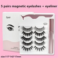 25styles 5 pairs magnetic false eyelashes eyeliner set magne...