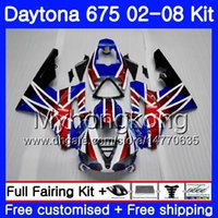 Body For Triumph Daytona 675 02 03 04 05 06 07 08 Daytona675 322HM.24 Daytona 675 Stock bleu rouge 2002 2003 2004 2005 2006 2007 2008 Carénage
