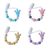 DIY Grade Baby Silicone Teethers Crown Handmade Pacifier Cli...