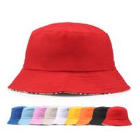 Reise Fischer Freizeit Eimer Hüte Einfarbig Mode Männer Frauen Flat Top Breiter Krempe Sommer Kappe Für Outdoor Sports Visier BD0042